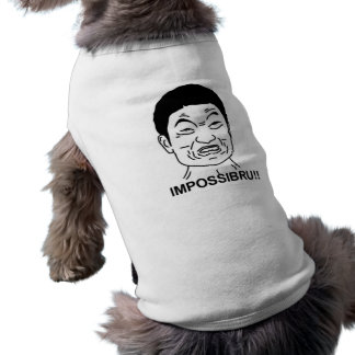 Impossibru!! Comic Face Sleeveless Dog Shirt