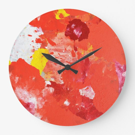 'Impress Me' Colourful Abstract Art Clock