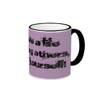 Impress yourself ringer mug