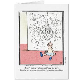 IMPRESSED cartoon by Ellen Elliott Greeting Card