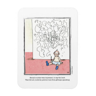 IMPRESSED cartoon by Ellen Elliott Rectangular Photo Magnet