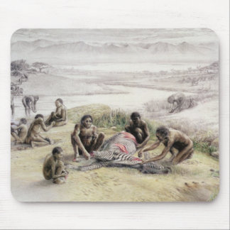 Impression of a camp occupied by Homo habilis Mouse Mat