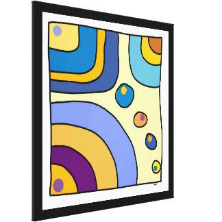 "Impression on extra fabric large, ""Bubble Gum Art Canvas Print"