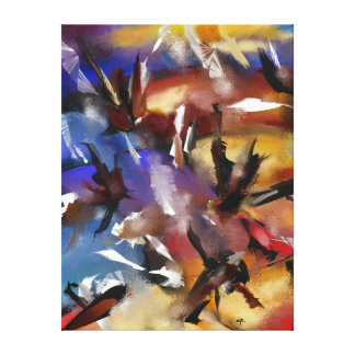 "Impression on fabric, ""Abstract 1.1705 "" Canvas Print"