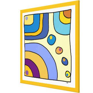 "Impression on fabric EXTRA large ""Bubble Gum Art "" Canvas Print"
