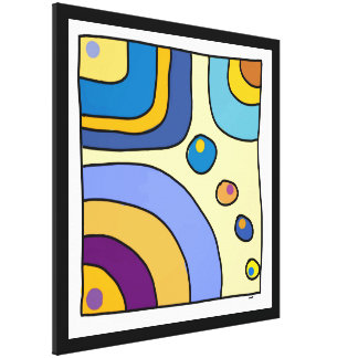 "Impression on fabric large model ""Bubble Gum Art "" Canvas Print"