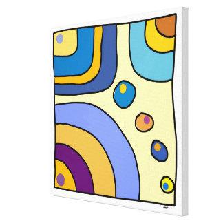 "Impression on fabric small size ""Bubble Gum Art "" Canvas Print"