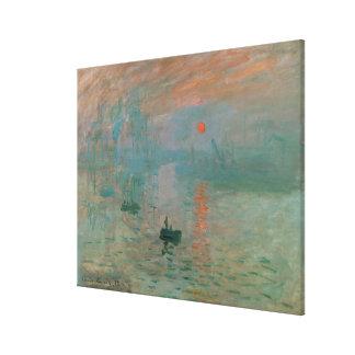 Impression, Soleil Levant by Claude Monet 1872 Canvas Prints
