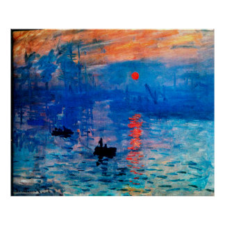 Impression, Sunrise 1872 Poster