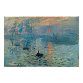 Impression,Sunrise,1873 Poster