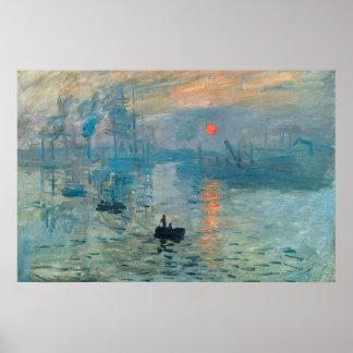 Impression,Sunrise,1873 Poster