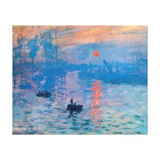 Impression, Sunrise  by Claude Monet Stretched Canvas Prints
