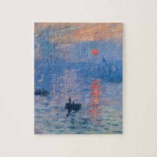 Impression, sunrise by Claude Monet Jigsaw Puzzle