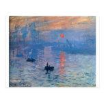 Impression, sunrise by Claude Monet Postcard