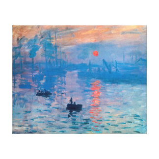 Impression, Sunrise  by Claude Monet Stretched Canvas Print