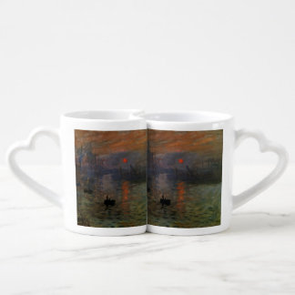 Impression Sunrise by Claude Monet, Vintage Art Coffee Mug Set