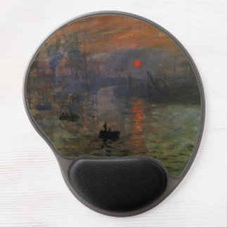 Impression Sunrise by Claude Monet, Vintage Art Gel Mouse Mat