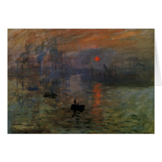 Impression Sunrise by Claude Monet, Vintage Art Greeting Card