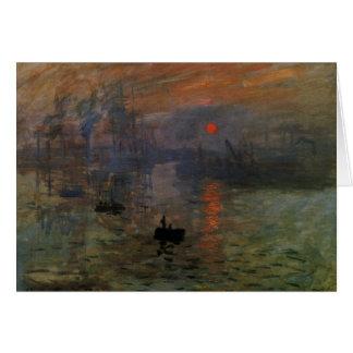 Impression Sunrise by Claude Monet, Vintage Art Greeting Card