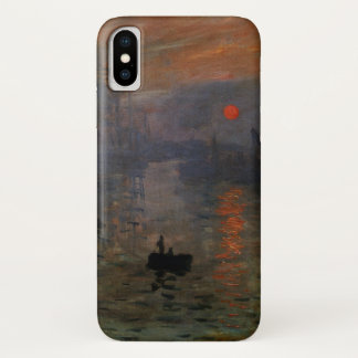 Impression Sunrise by Claude Monet, Vintage Art iPhone X Case