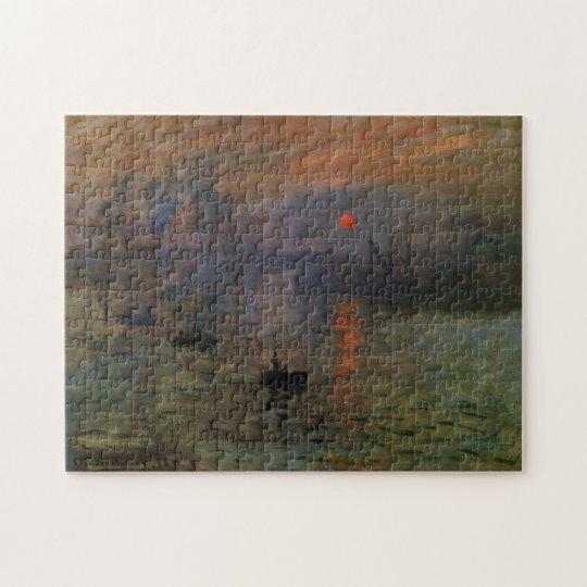 Impression Sunrise by Claude Monet, Vintage Art Jigsaw