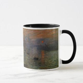Impression Sunrise by Claude Monet, Vintage Art Mug