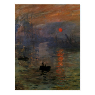 Impression Sunrise by Claude Monet, Vintage Art Postcard