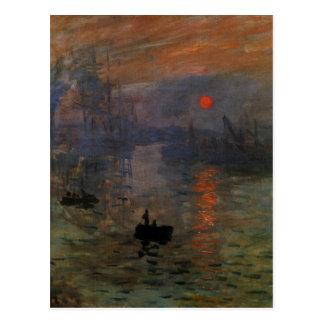 Impression Sunrise by Claude Monet, Vintage Art Postcard