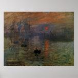 Impression Sunrise by Claude Monet, Vintage Art Poster