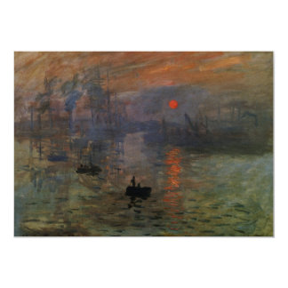 Impression, Sunrise by Monet Vintage Impressionism Personalized Announcements