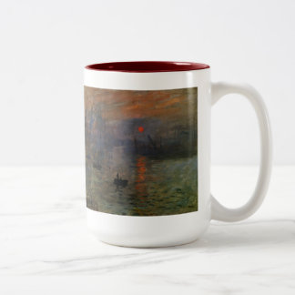 Impression, Sunrise by Monet Vintage Impressionism Two-Tone Coffee Mug