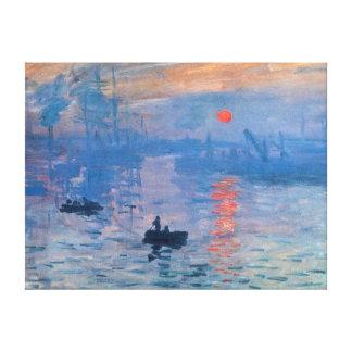 Impression Sunrise Canvas Print