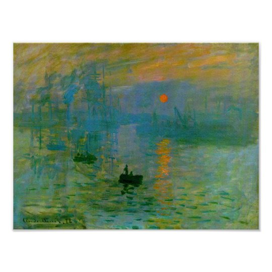 Impression Sunrise, Claude Monet Fine Art Poster