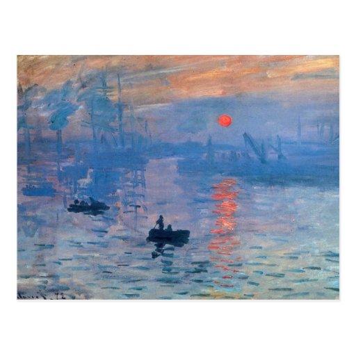 Impression Sunrise Postcard
