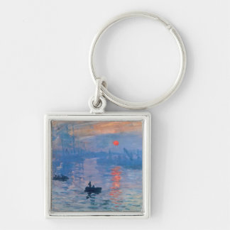 Impression Sunrise Silver-Colored Square Key Ring