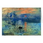 Impression Sunrise, Soleil Levant, Claude Monet Greeting Card