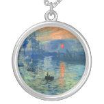 Impression Sunrise, Soleil Levant, Claude Monet Custom Jewelry