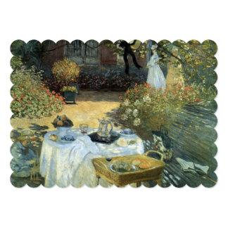 "Impressionism Art Afteroon Tea Party Bridal Shower 5"" X 7"" Invitation Card"