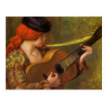 Impressionism Art, Young Spanish Woman by Renoir Postcard