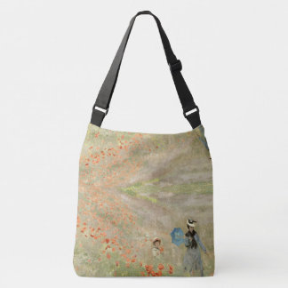 Impressionism Monet Poppy Wildflowers Tote Bag