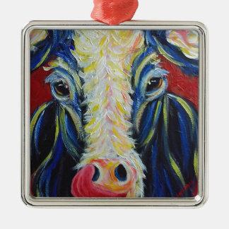 Impressionism Post Impressionism Cow Farm Animals Silver-Colored Square Decoration