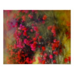 Impressionism Red Bougainvillea Poster Poster