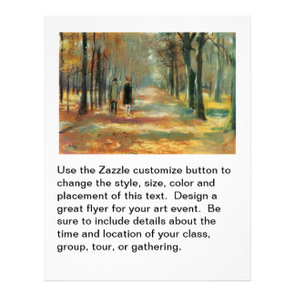 Impressionist art by Ury couple walking in woods 21.5 Cm X 28 Cm Flyer