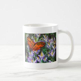 Impressionist butterfly basic white mug