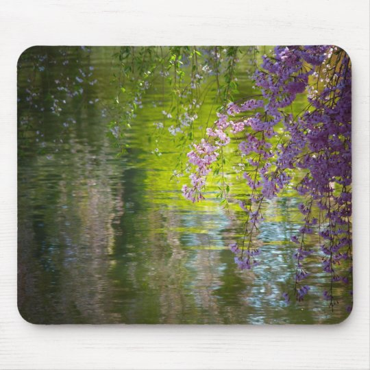 Impressionist Cherry Blossoms Mouse Pad