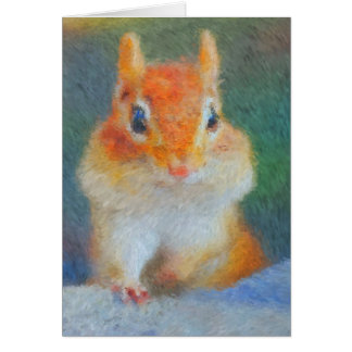 Impressionist Chipmunk Card