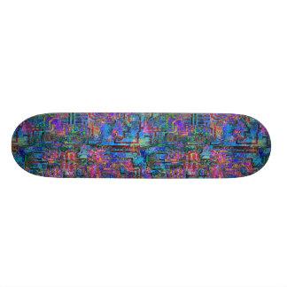 Impressionist Circuit Board Skateboard Deck