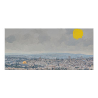 Impressionist Dome of the Rock Poster