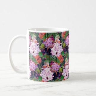 IMPRESSIONIST DOUBLE LILAC FLOWERS ORIGINAL COFFEE MUG
