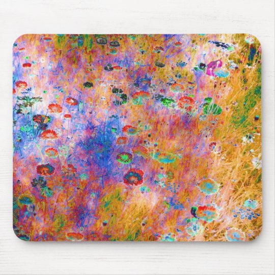 impressionist flower mouse mat